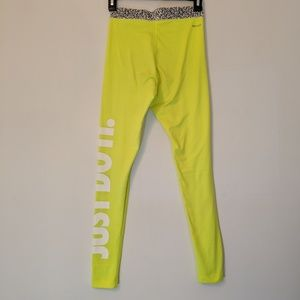 Nike Pro Neon Yellow Leggings XS